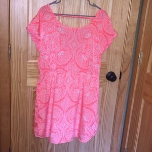 Neon orange AEO dress with back detail and pockets